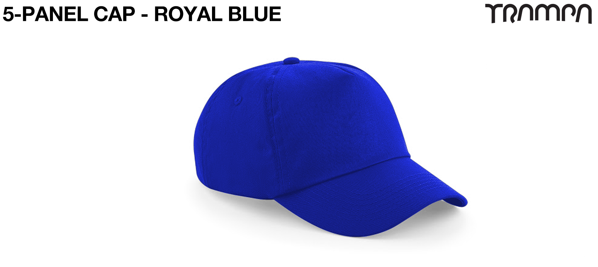 5 Panel HEAVY BASEBALL Cap - BLUE
