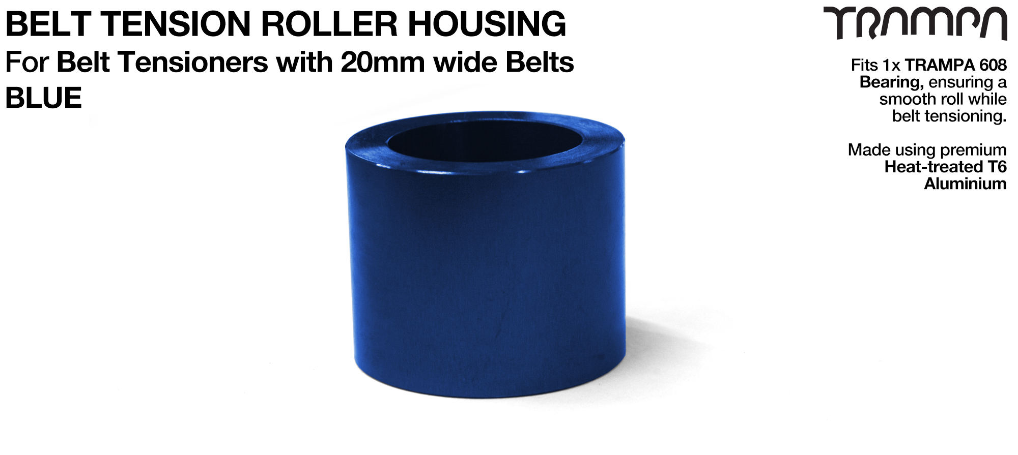 Belt Tension Roller Housing for 20mm Belts - BLUE