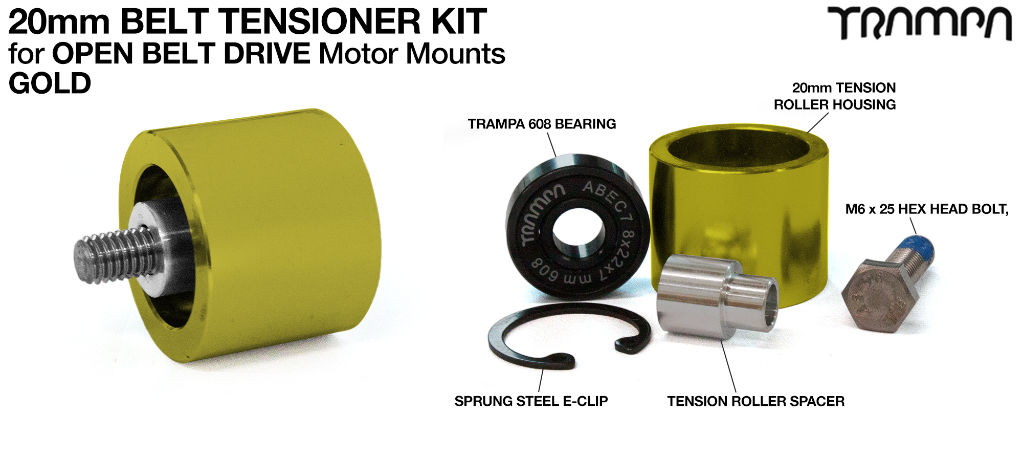 GOLD OBD 20mm Belt Tensioner