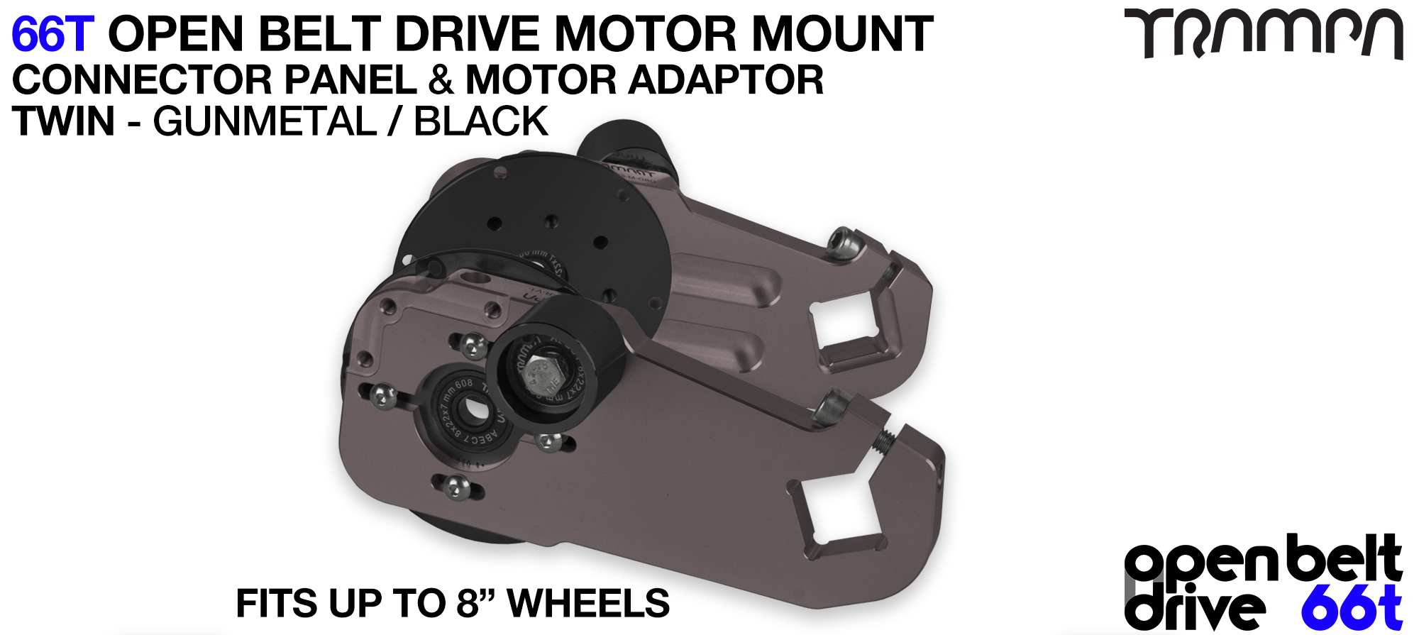 66T OPEN BELT DRIVE Motor Mount & Motor Adaptor - TWIN GUNMETAL