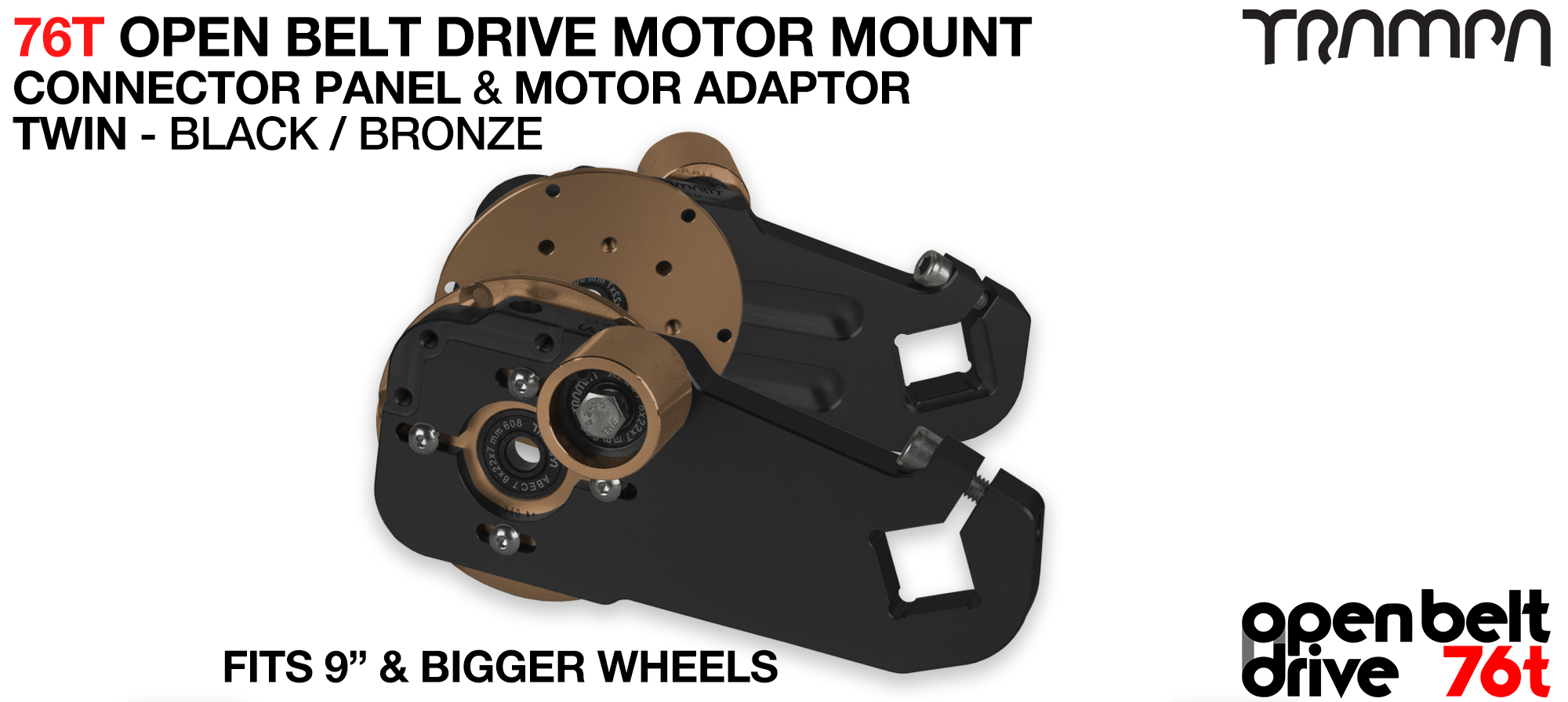 76T Open Belt Drive Motor Mount & Motor Adaptor - TWIN BRONZE