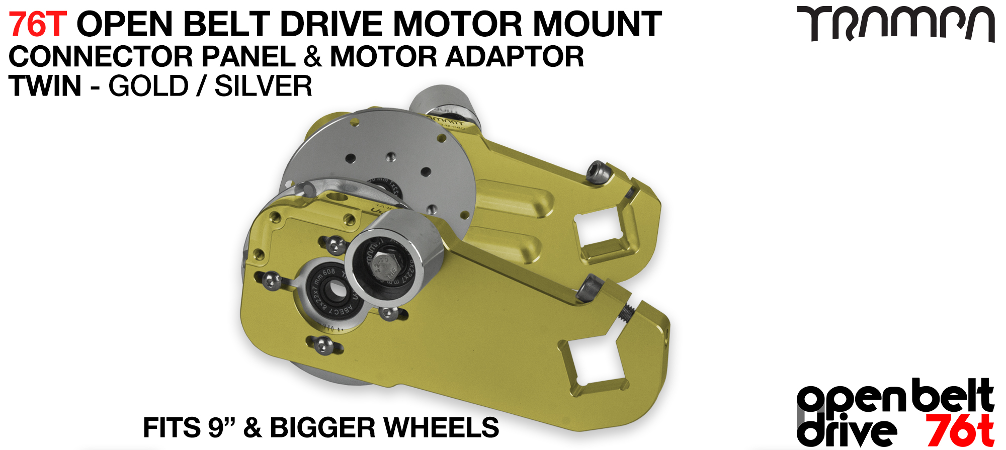 76T Open Belt Drive Motor Mount & Motor Adaptor - TWIN GOLD