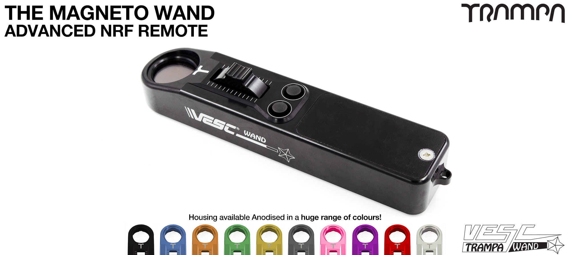 WAND Remote Control TRAMPA VESC Based design gives you all the data you could wish for on the fly