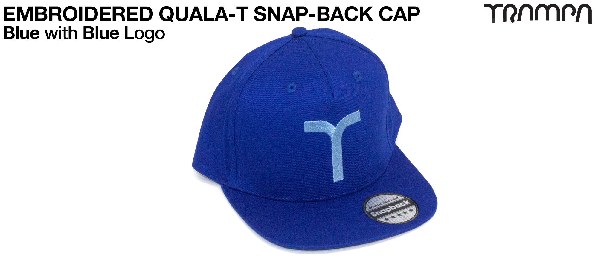 BLUE SNAPBACK Cap with BLUE QUALA-T logo embroidered