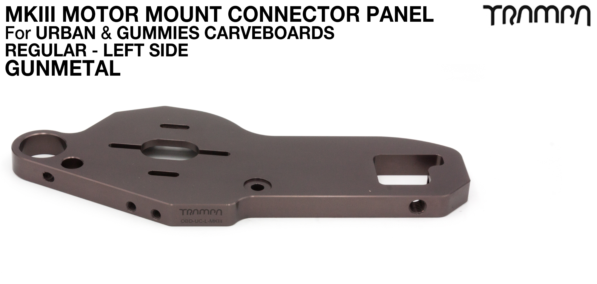 URBAN CARVE Motor Mount - REGULAR GUNMETAL