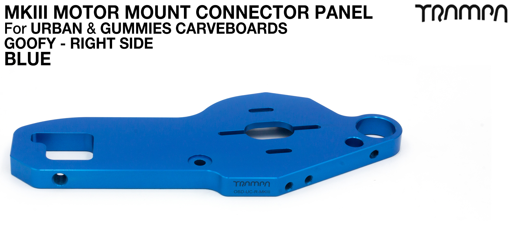 TWIN URBAN CARVE Motor Mount - BLUE