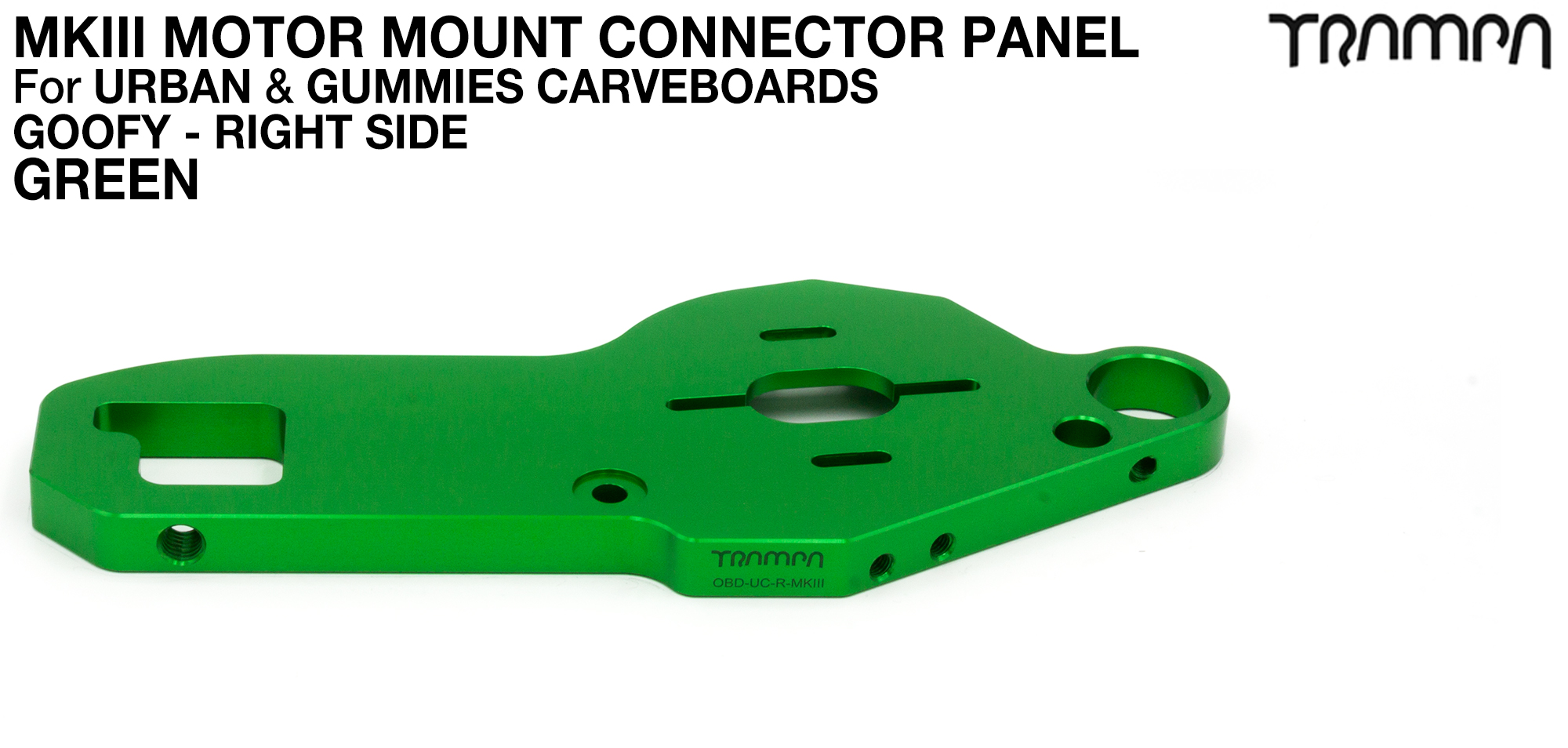TWIN URBAN CARVE Motor Mount - GREEN