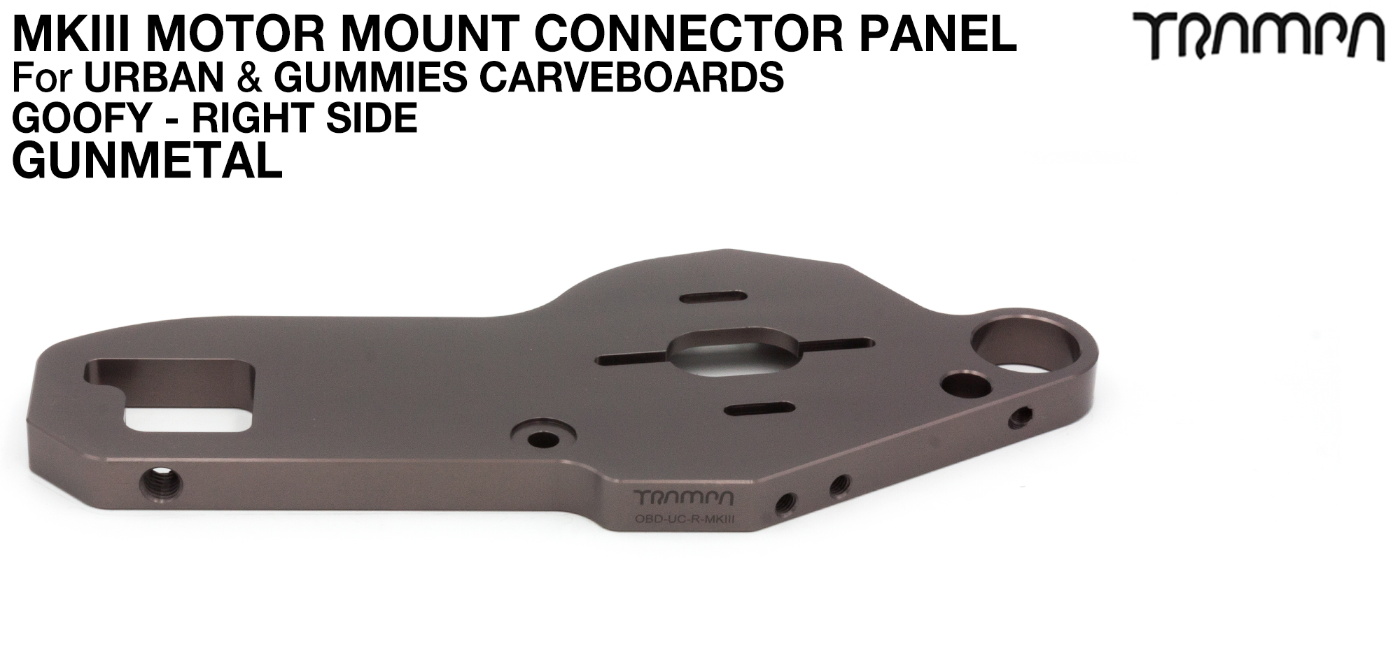 TWIN URBAN CARVE Motor Mount - GUNMETAL