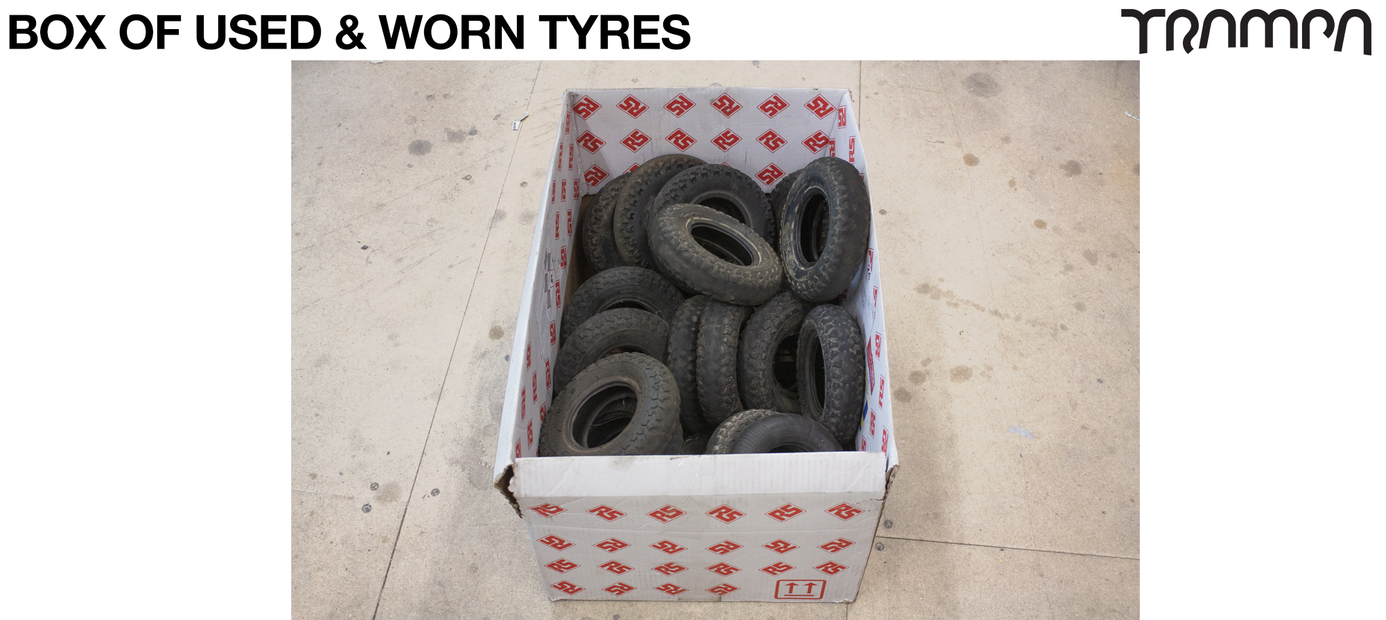 Box of Used / Worn Tyres