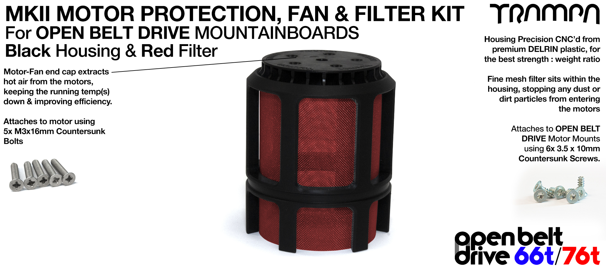 1x OBD MKII Motor protection Sleeve with RED Filter