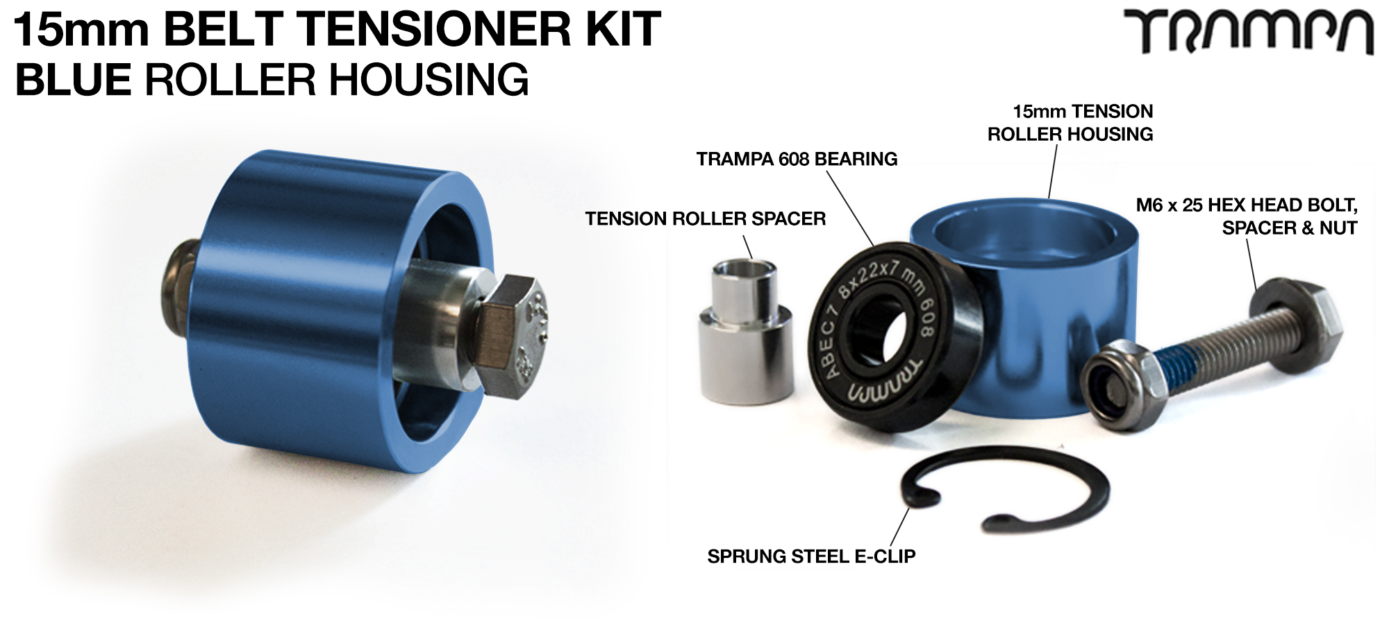 BLUE 15mm Belt Tensioners