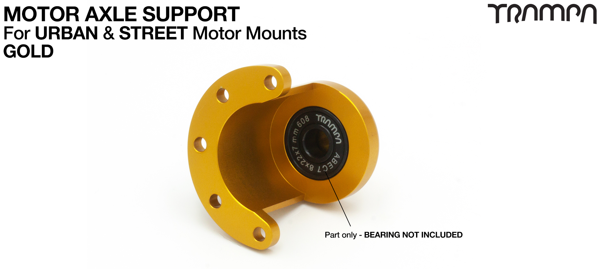 Universal Motor Axle Support - GOLD