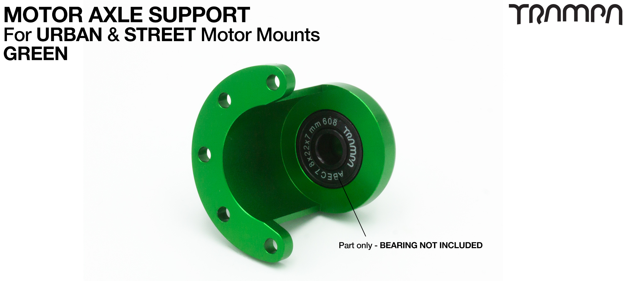 Universal Motor Axle Support - GREEN