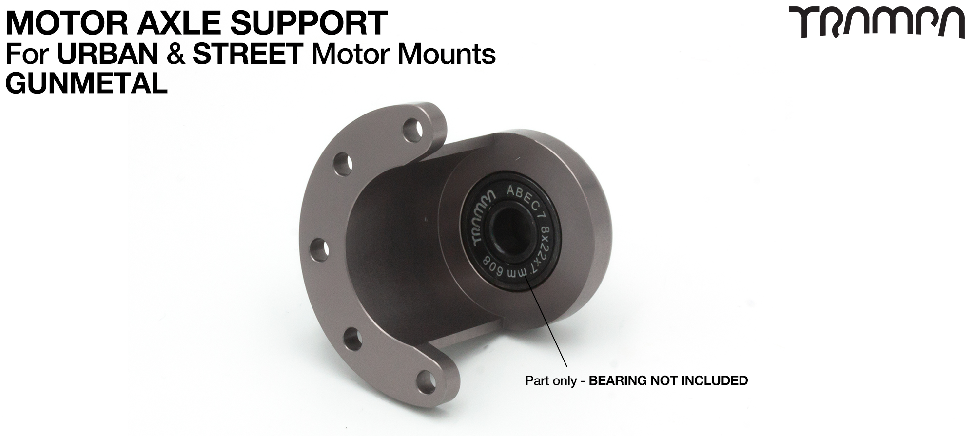 Motor Axle Support for Spring Truck Motor Mounts UNIVERSAL - GUNMETAL