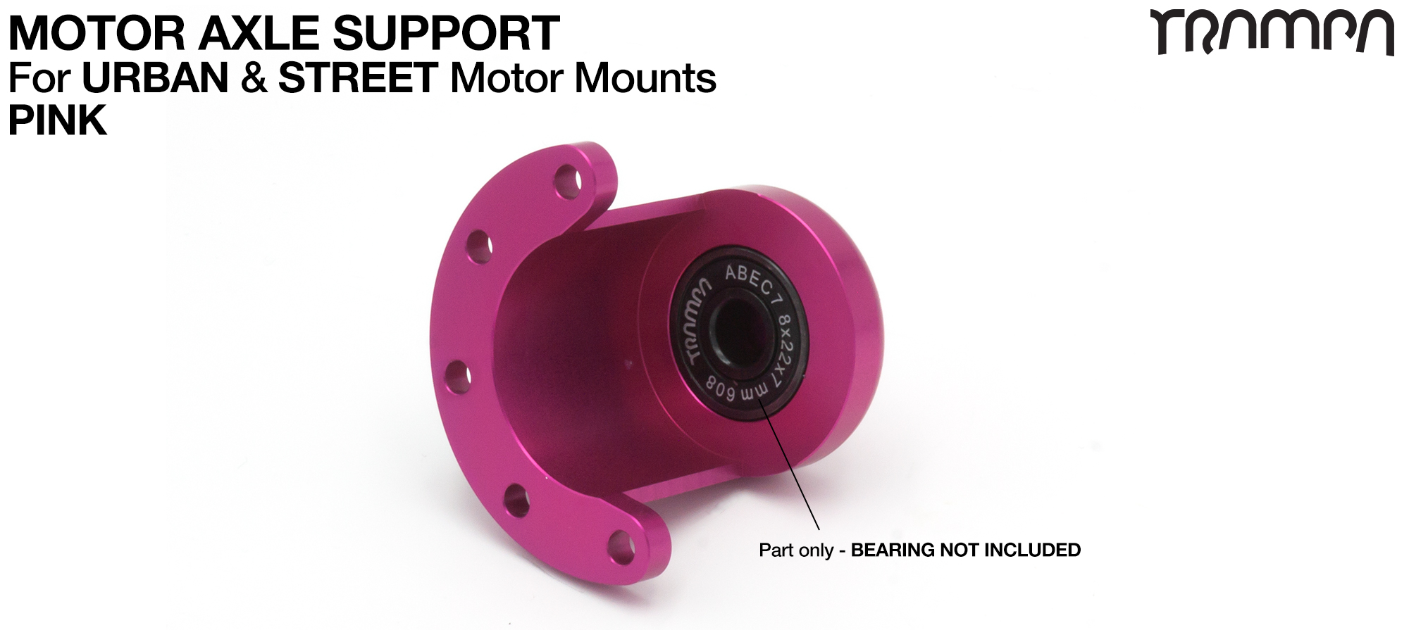 Motor Axle Support for Spring Truck Motor Mounts UNIVERSAL - PINK