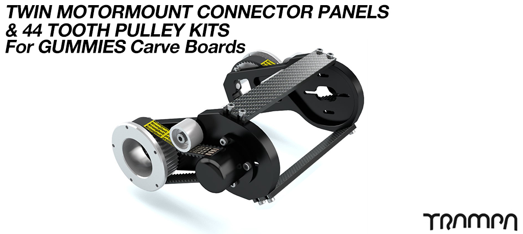 MkII GUMMIES CARVEBOARD Motormount Connector Panel & 44 Tooth Pulleys - TWIN