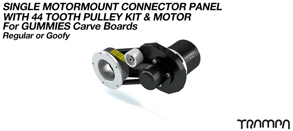 MkII GUMMIES CARVEBOARD Motormount Connector Panel & 44 Tooth Pulley Kit & Motor - SINGLE