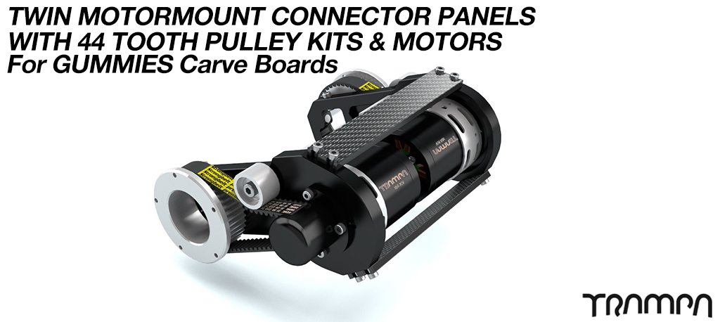 MkII GUMMIES CARVEBOARD Motormount Connector Panel & 44 Tooth Pulley Kit & Motor - TWIN