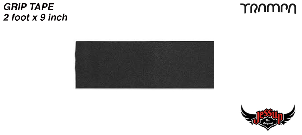 2 Foot of 9 Inch Wide Jessop Grip Tape for Longboards