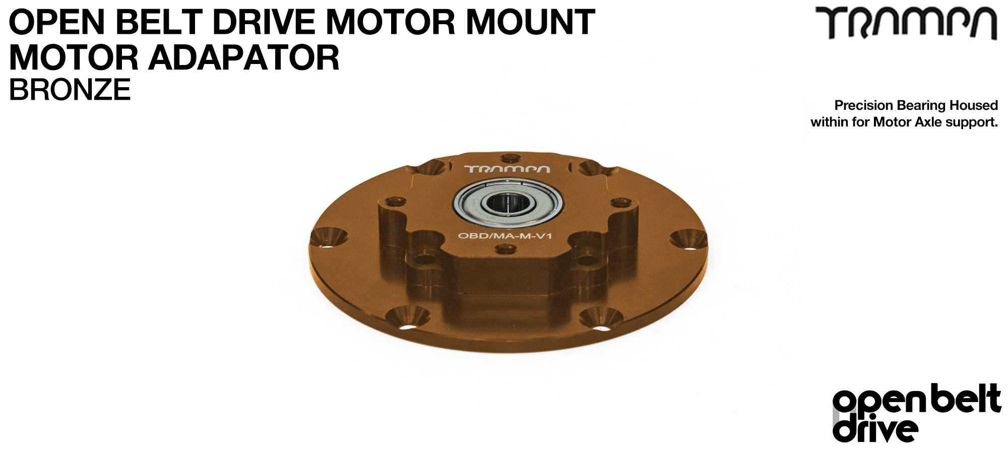 OBD Motor Adaptor with Housed Bearing - BRONZE
