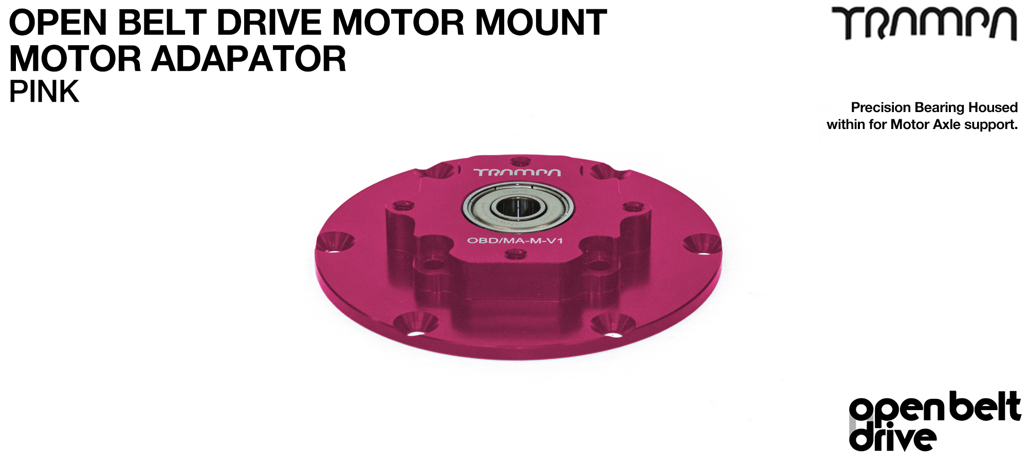 OBD Motor Adaptor with Housed Bearing - PINK