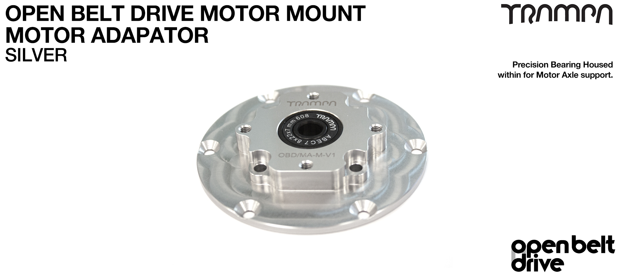 OBD Motor Adaptor with Housed Bearing - SILVER
