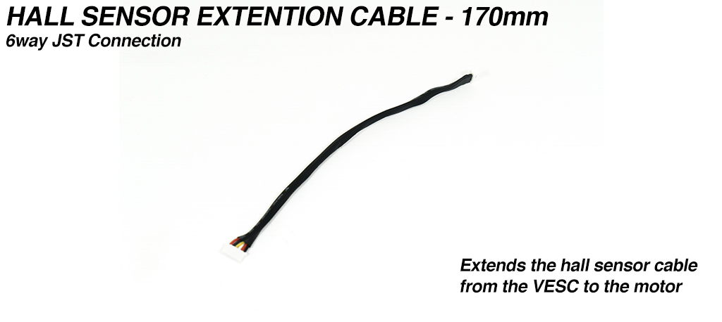 170mm Motor Hall Sensor Extension cable - 6way JST connection (vesc to sensor pcb)