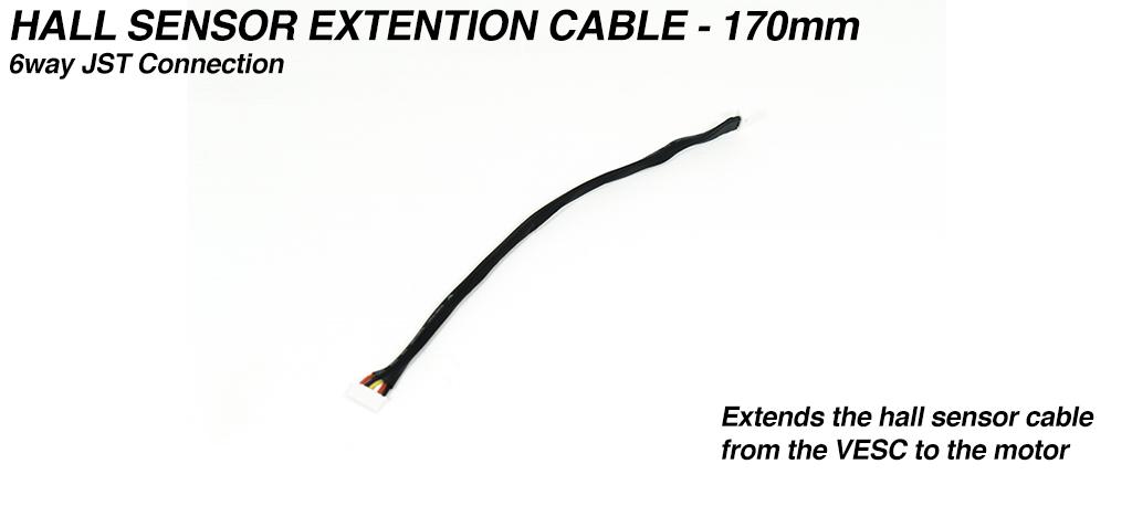 170mm Motor Hall Sensor Vesc to Sensor PCB Extension cable - 6way JST connection