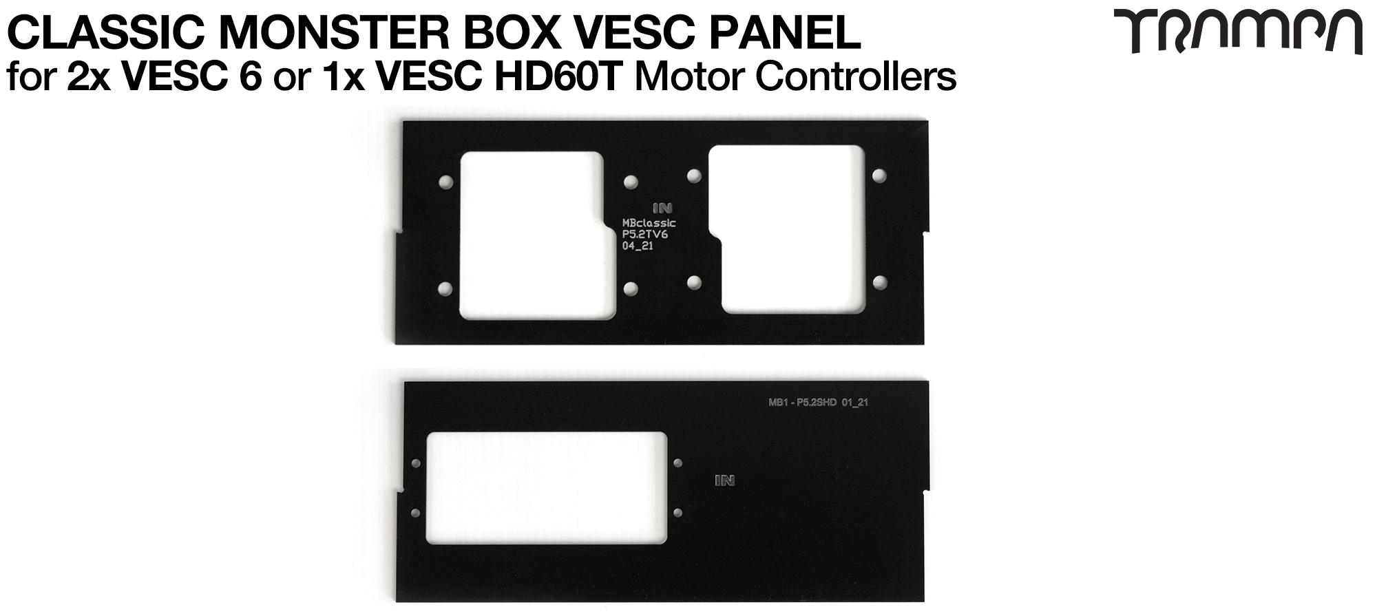 CLASSIC MONSTER Box MkV CUSTOM VESC Mounting Panel