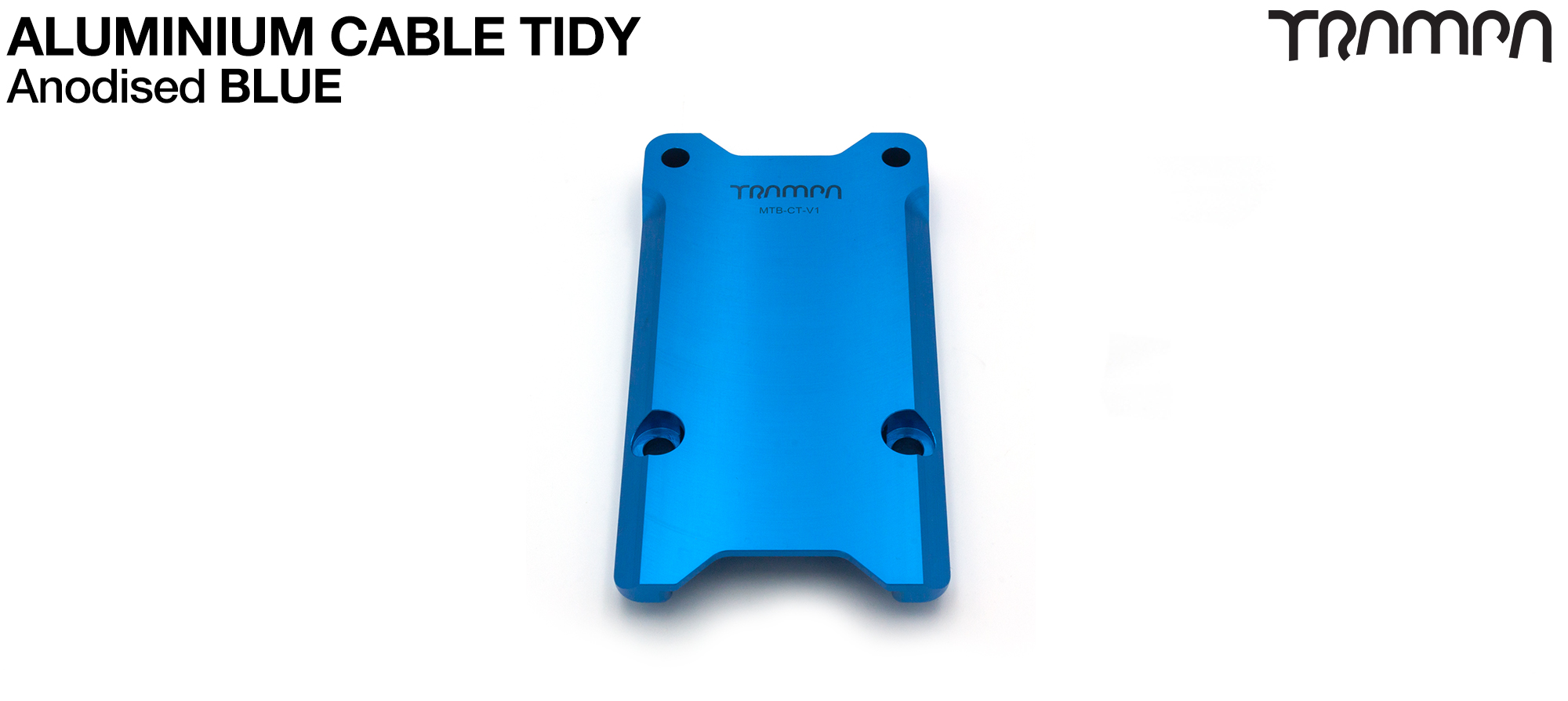 Anodised Aluminum Cable Tidy - BLUE