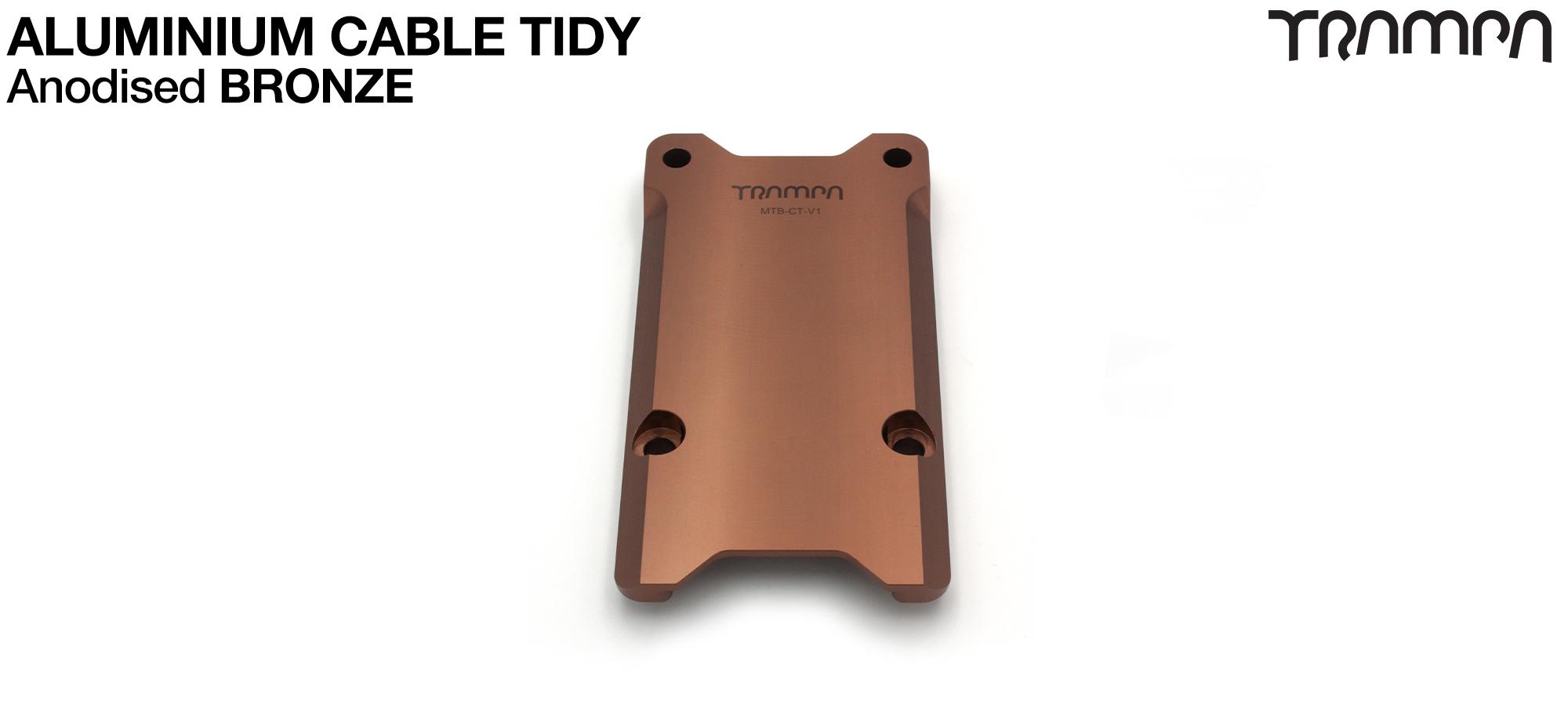 Anodised Aluminum Cable Tidy - BRONZE