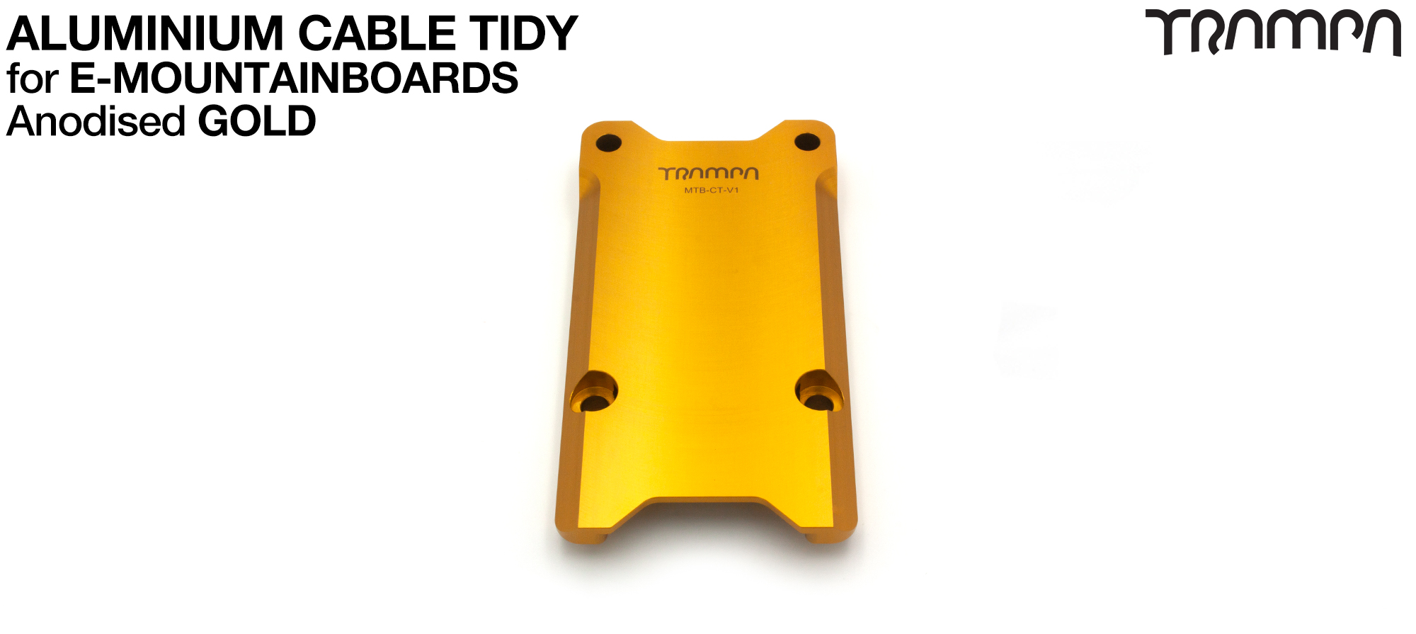 Anodised Aluminum Cable Tidy - GOLD