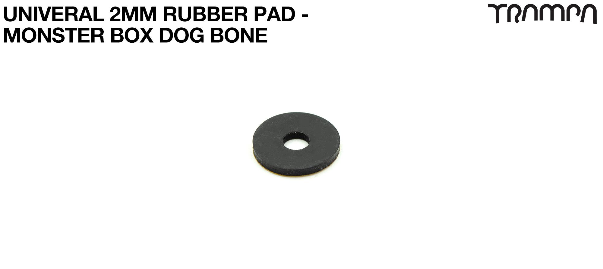 Massive & Classic Monster Box DOG BONE 2mm RUBBER PAD - BOTTOM