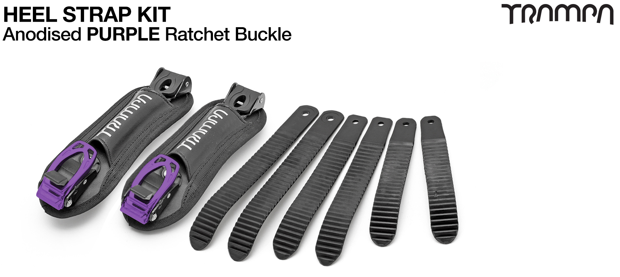 Heel Straps with PURPLE Ratchets - 30% Discount! (+£21)