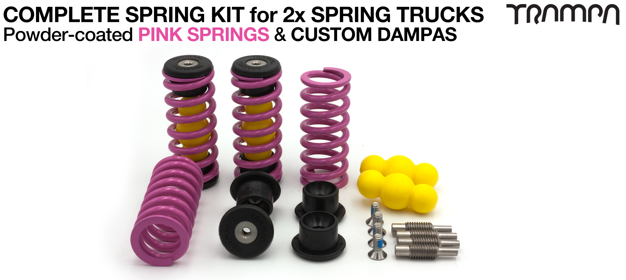 Powder Coated Springs - PINK
