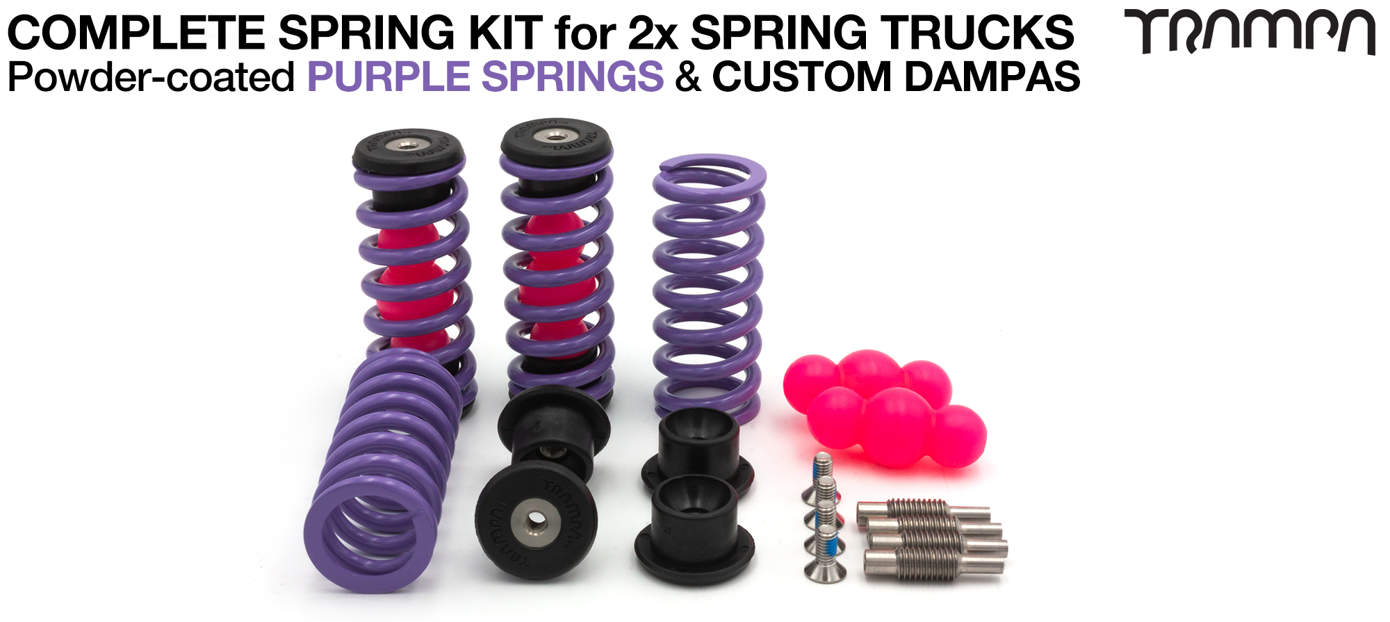 Powder Coated Springs - PURPLE