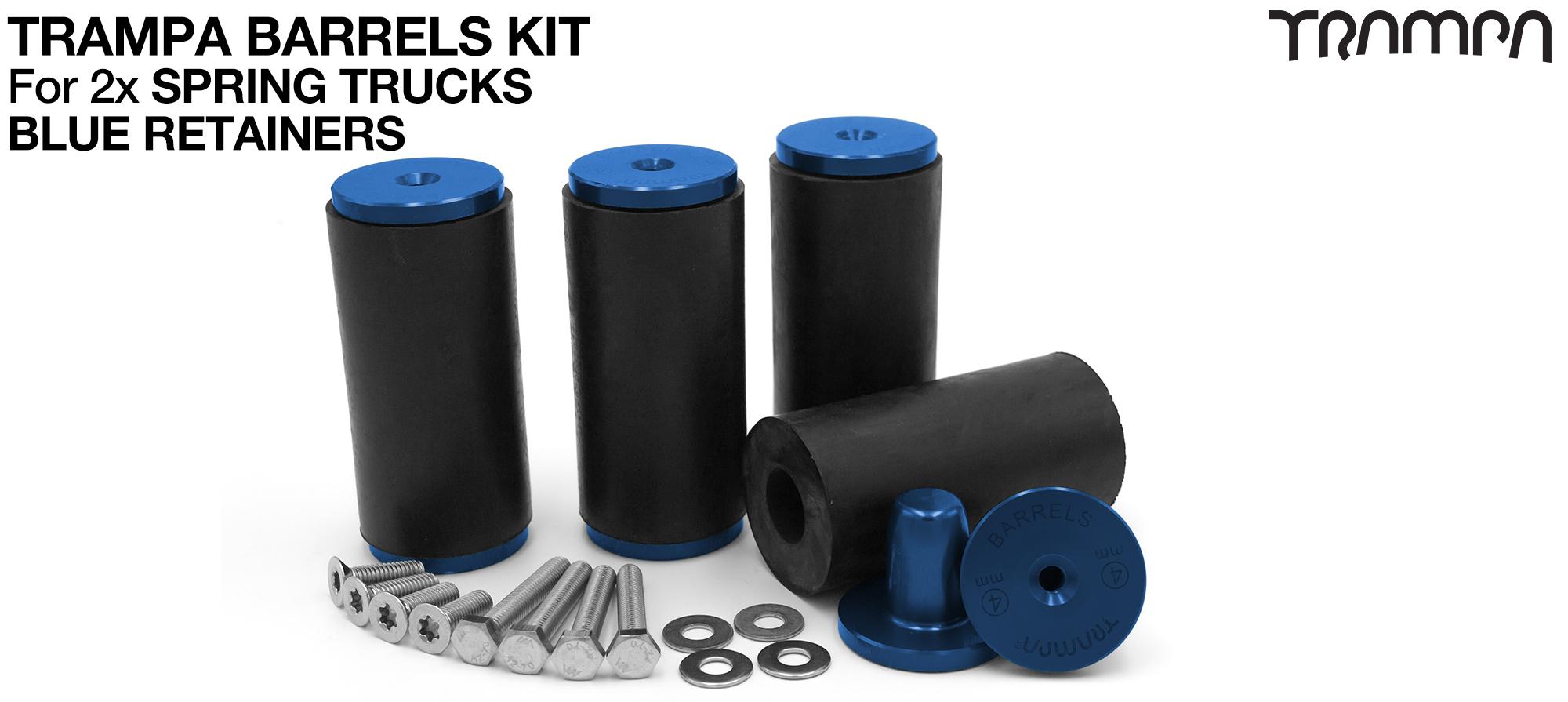 TRAMPA BARRELS Complete DECK Kit - BLUE