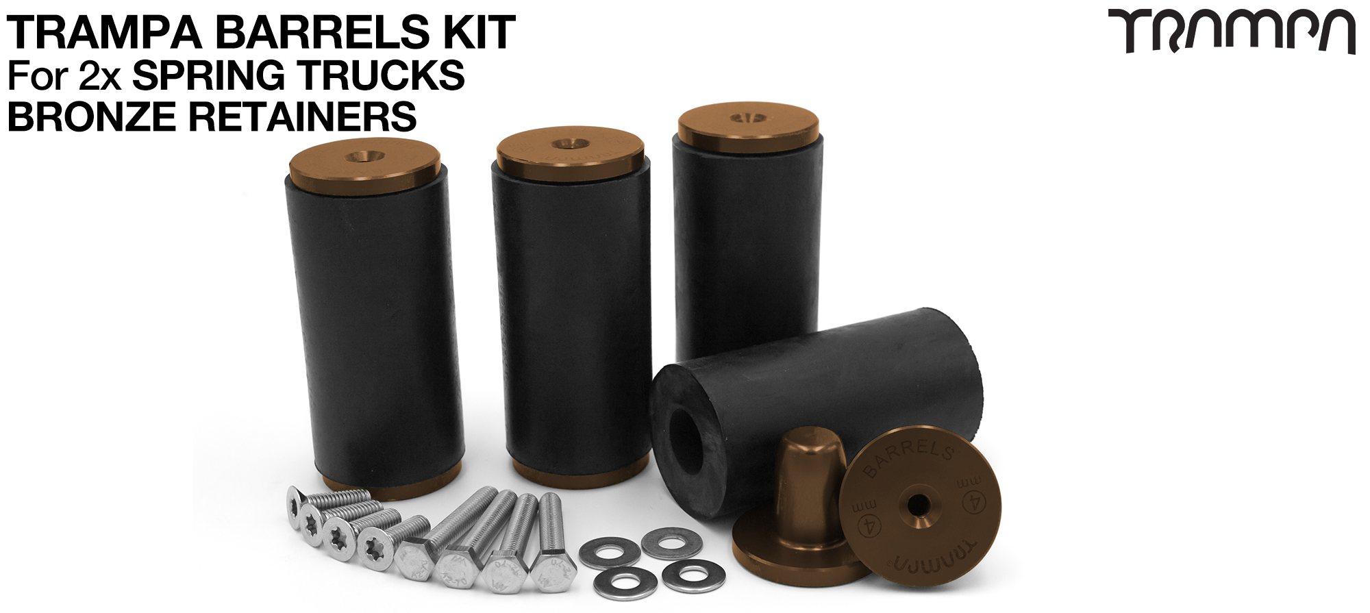 TRAMPA BARRELS Complete DECK Kit - BRONZE