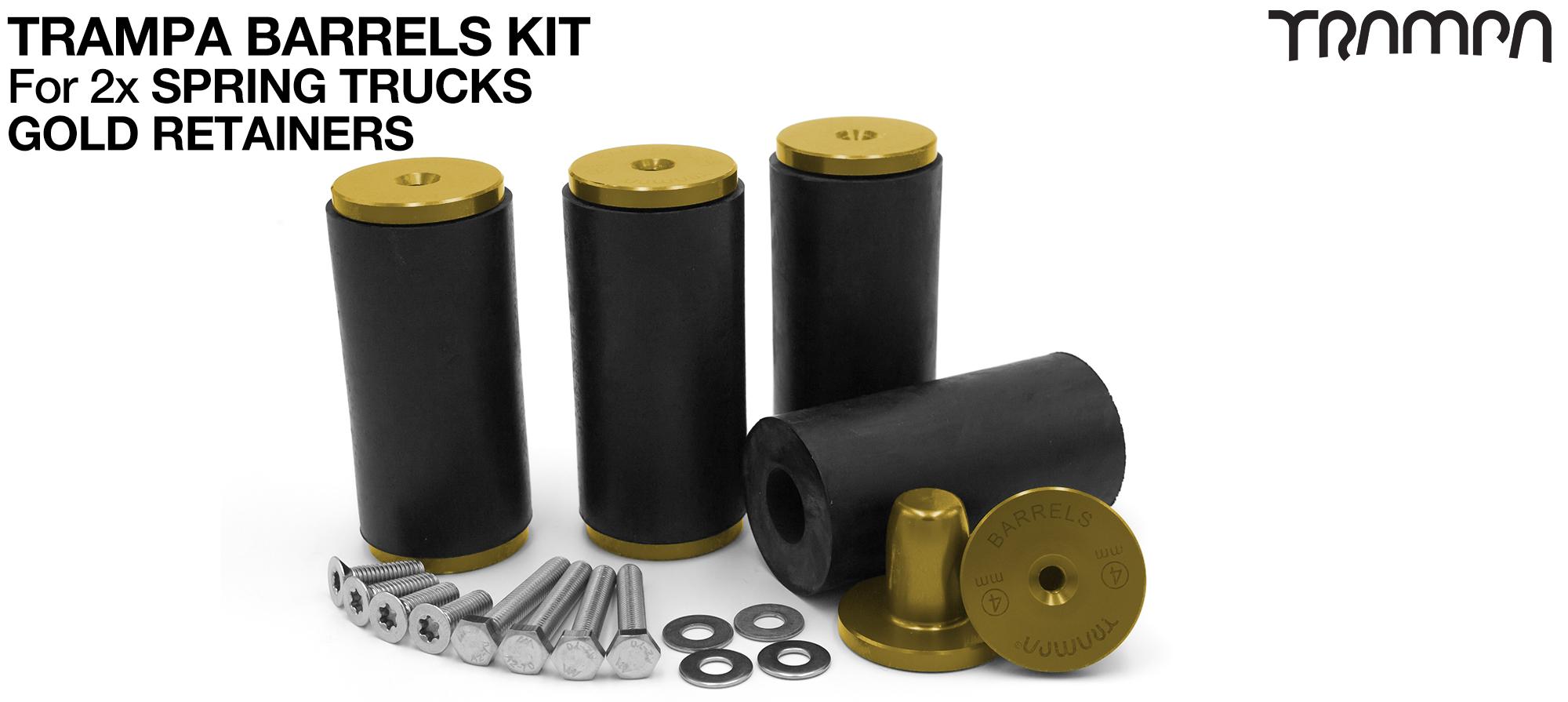 TRAMPA BARRELS Complete DECK Kit - GOLD