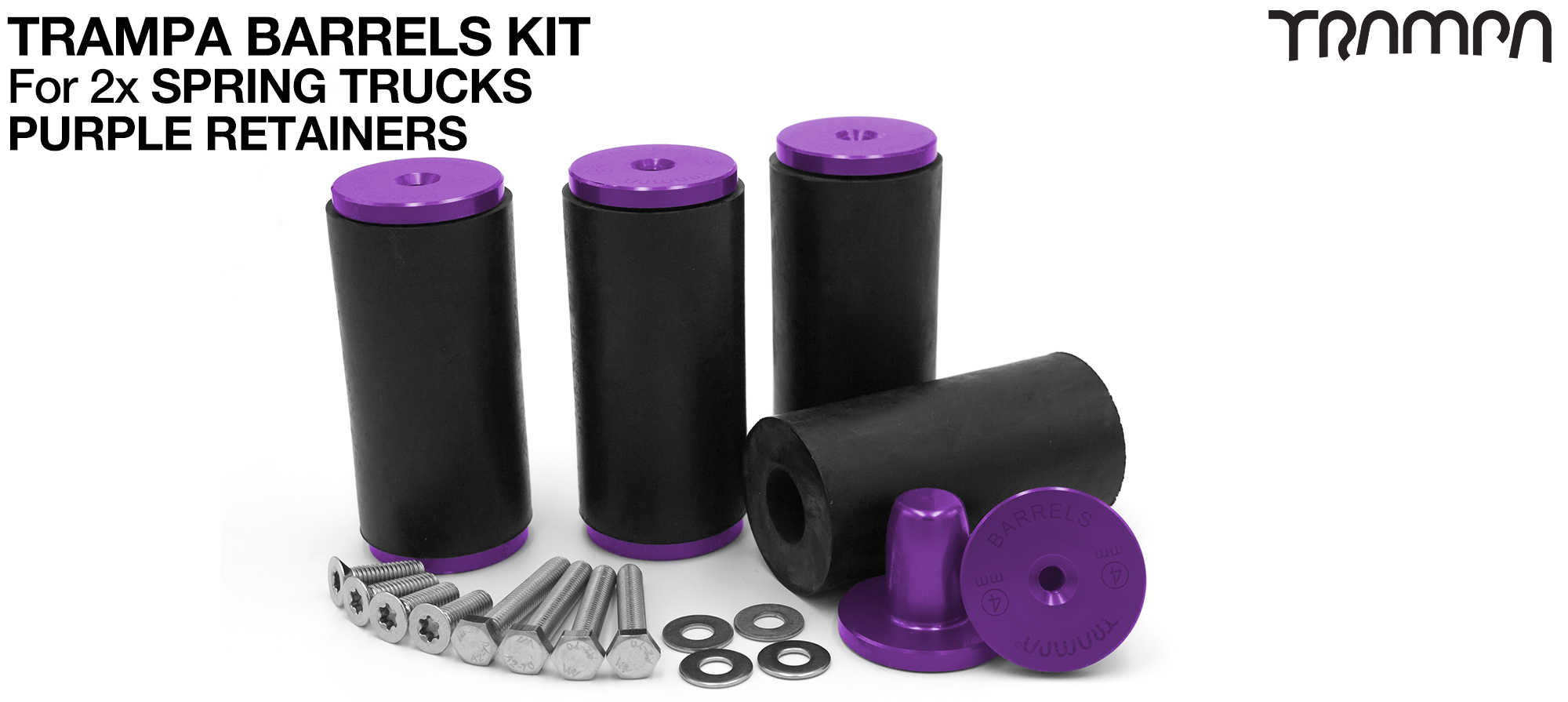 TRAMPA BARRELS Complete DECK Kit - PURPLE