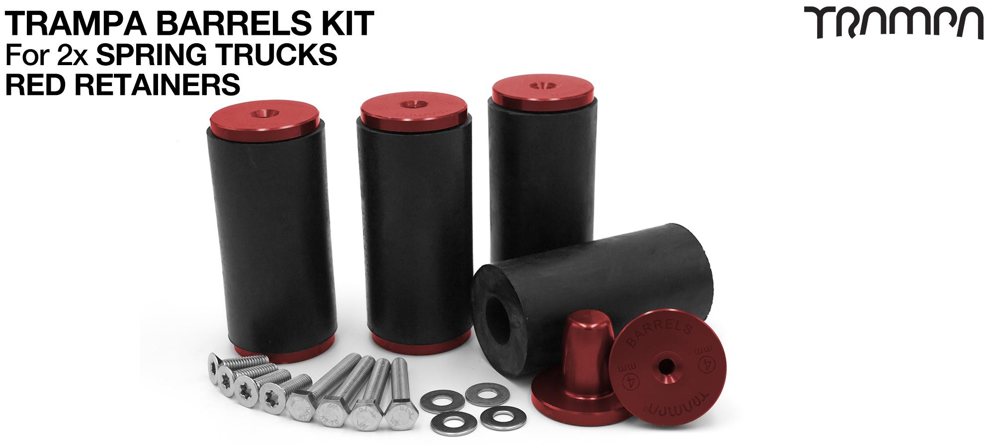TRAMPA BARRELS Complete DECK Kit - RED
