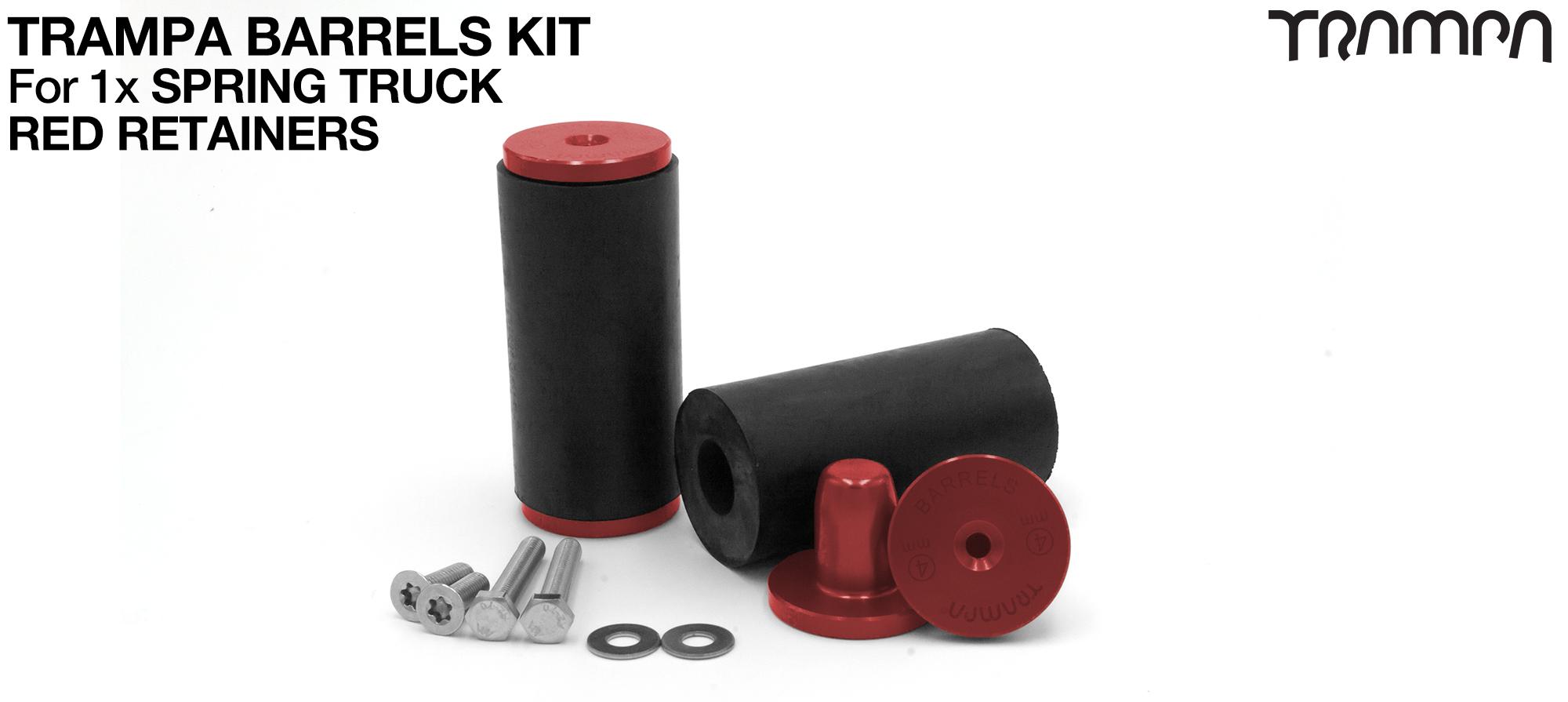 TRAMPA BARRELS Complete 1x TRUCK Kit - RED
