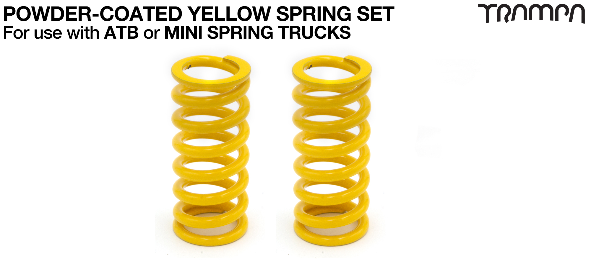 YELLOW Powder coated Steel Springs x2