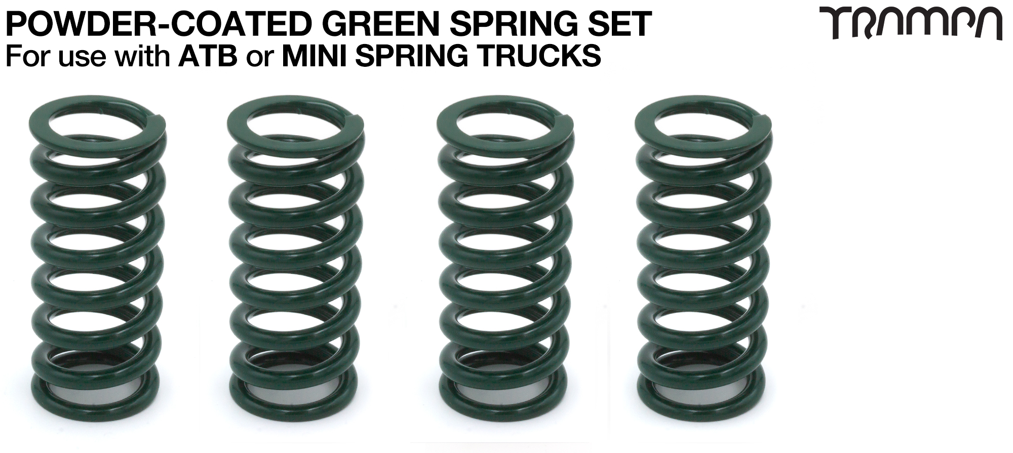 Powder Coated Springs - GREEN