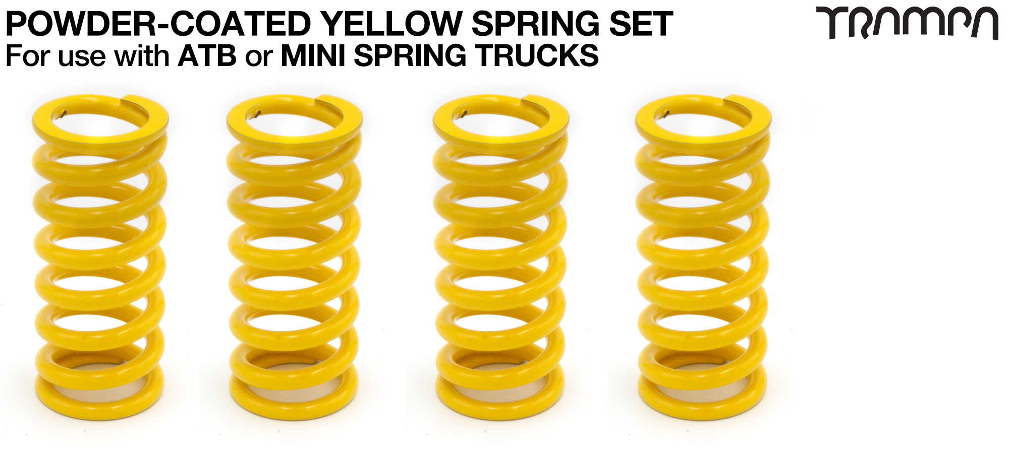 Powder Coated Springs - YELLOW