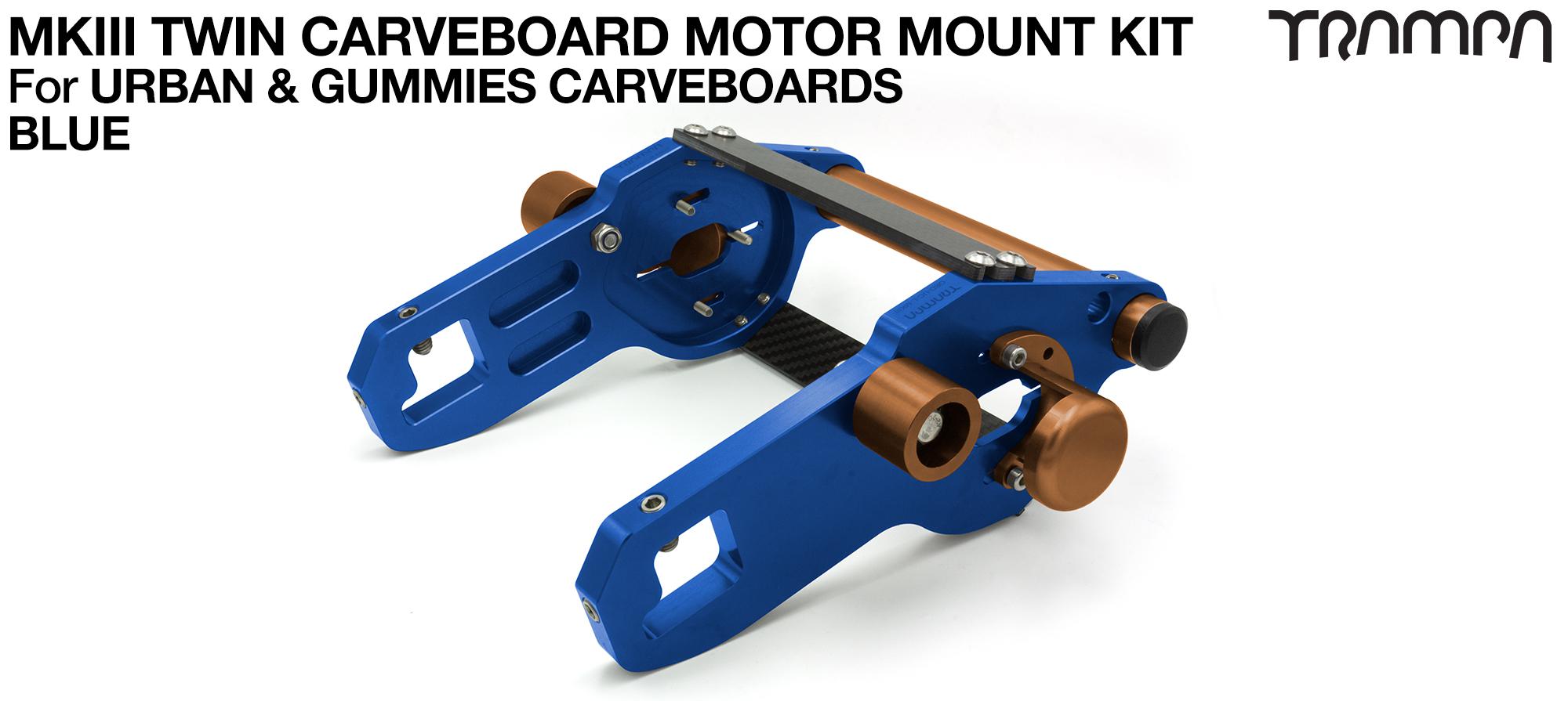 MkIII CARVE BOARD Motor Mount Kit - TWIN BLUE