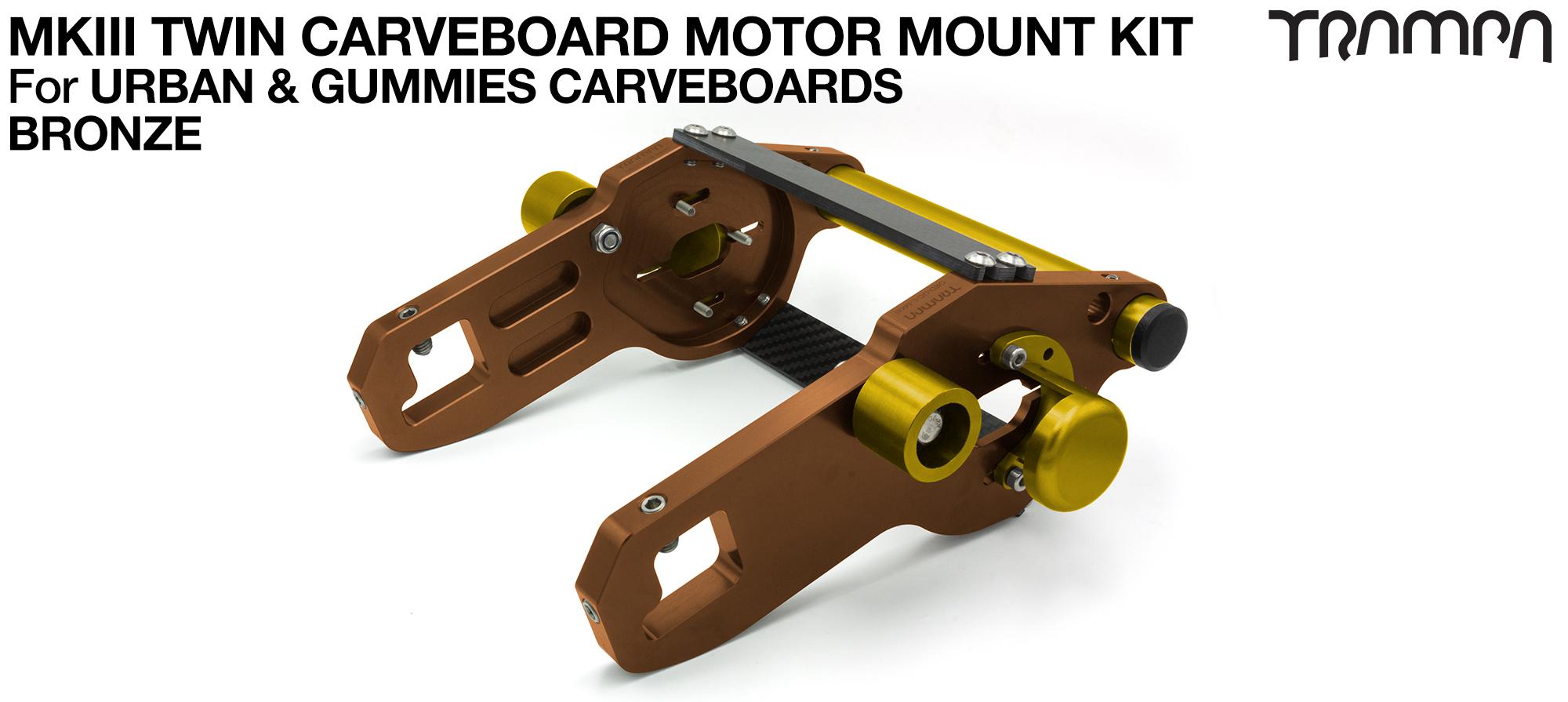 MkIII CARVE BOARD Motor Mount Kit - TWIN BRONZE