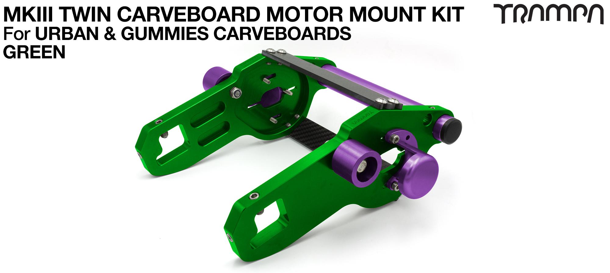 MkIII CARVE BOARD Motor Mount Kit - TWIN GREEN