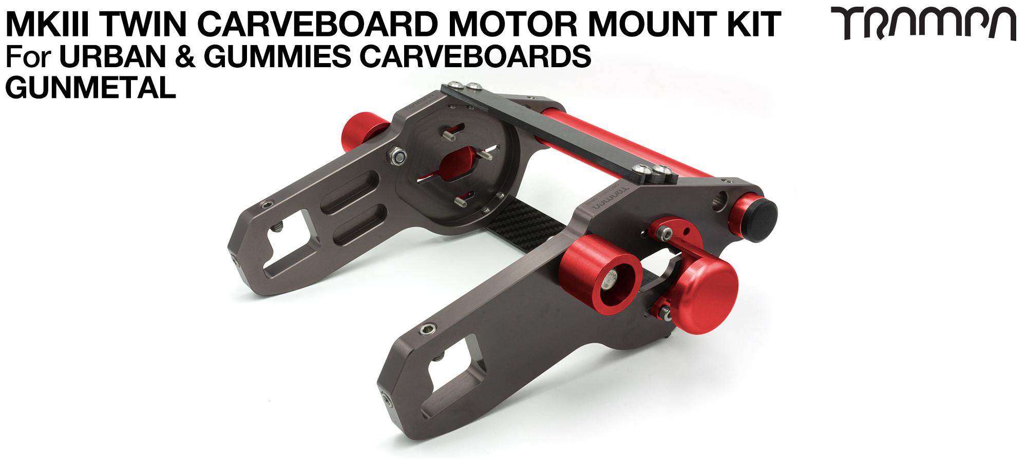 MkIII CARVE BOARD Motor Mount Kit - TWIN GUNMETAL