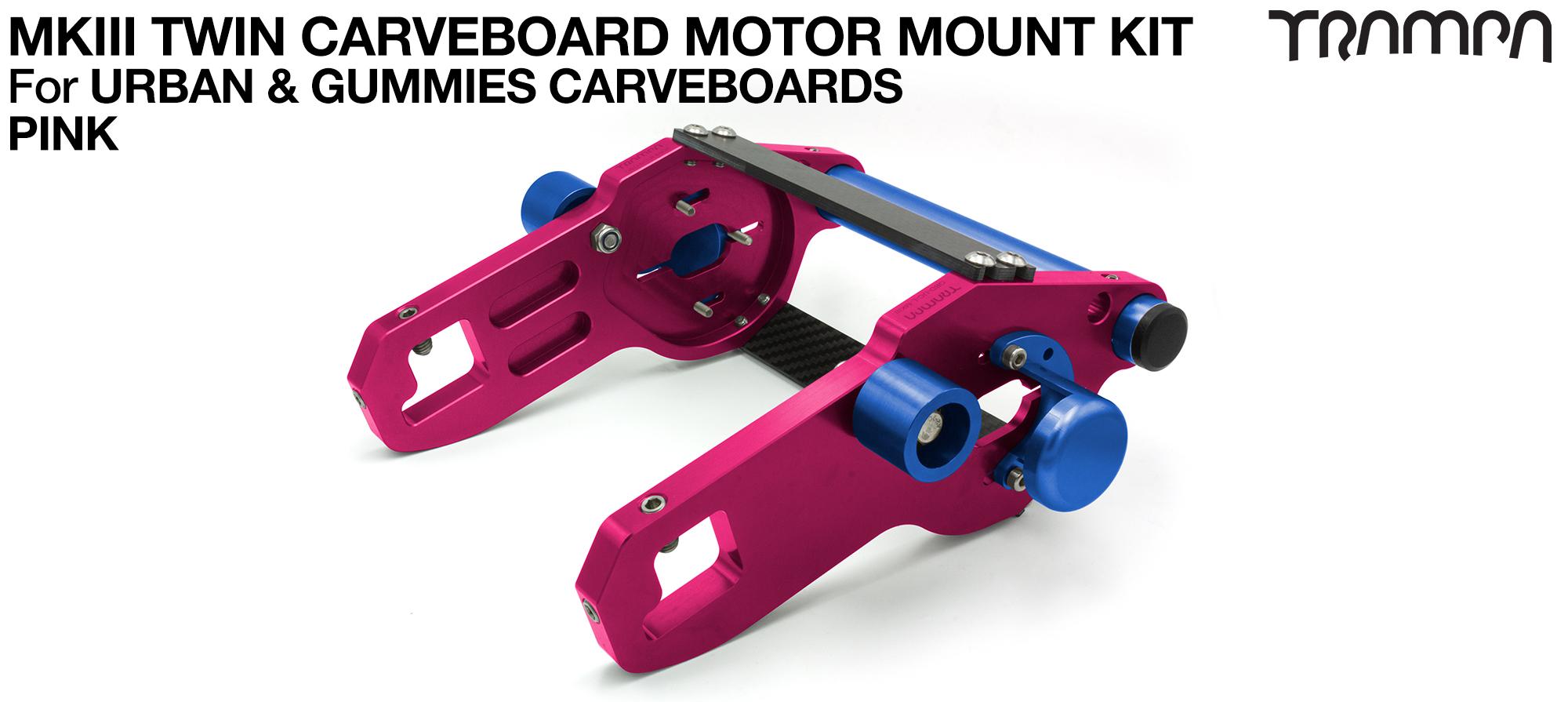 MkIII CARVE BOARD Motor Mount Kit - TWIN PINK